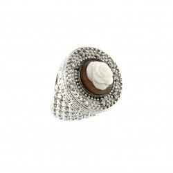 SILVER RING WITH CAMEO