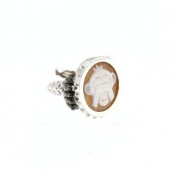 BRONZE RING WITH CAMEO