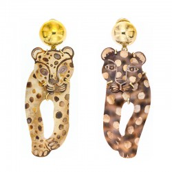 Earrings Leopard