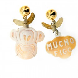 SILVER EARRINGS WITH CAMEO
