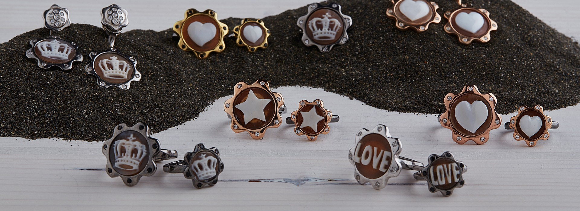 925 Silver Rings with Cameo